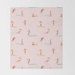 Sea babes Throw Blanket