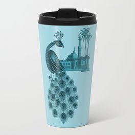 Blue peacock oriental dream Travel Mug