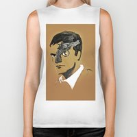 quentin tarantino Biker Tanks featuring Quentin by Gabby Grife | GuinArt