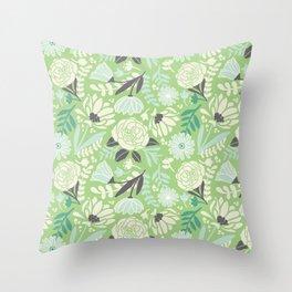 Silvestre flowers Throw Pillow