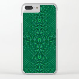 Green Tunnel Trance Clear iPhone Case