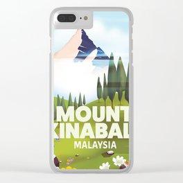 Mount Kinabalu Malaysia Clear iPhone Case