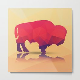 Geometric buffalo Metal Print