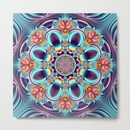 Floral pattern mandala Metal Print