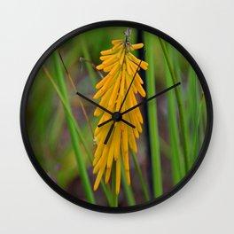 Sizzling in Saffron Wall Clock