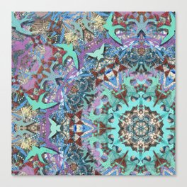 Aqua Swallows Canvas Print
