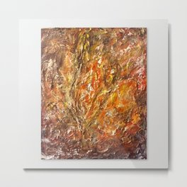 Textured Acrylic Painting By Annette Forlenza Metal Print