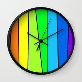 The Color Bar Wall Clock
