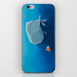 The little sperm whale and the fish iPhone Skin