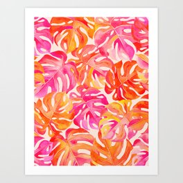 Palm Leaves in Bold Colors 2 Art Print