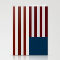 house of cards Stationery Cards featuring House of Cards - American Flag by JLDesigns