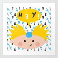 hey arnold Art Prints featuring Hey! Arnold by Carly Watts