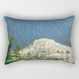 Star Trail Sky Rectangular Pillow