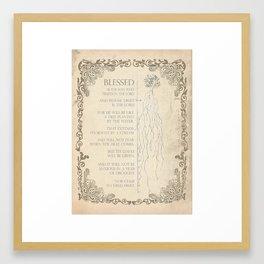 Blessed Is Framed Art Print