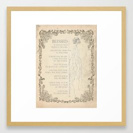 Blessed Is Framed Art Print