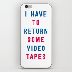 American Psycho - I have to return some video tapes iPhone & iPod Skin