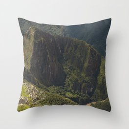 Lost Incan City Machu Picchu and Wayna Picchu Throw Pillow