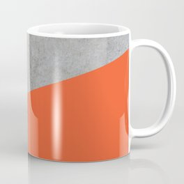 Concrete and Flame Color Coffee Mug