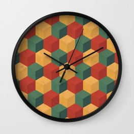 Retro Cubic Wall Clock