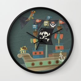 ships ahoy  Wall Clock