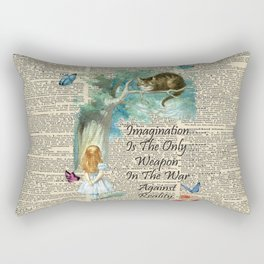 Alice In Wonderland Quote - Imagination - Dictionary Page Rectangular Pillow