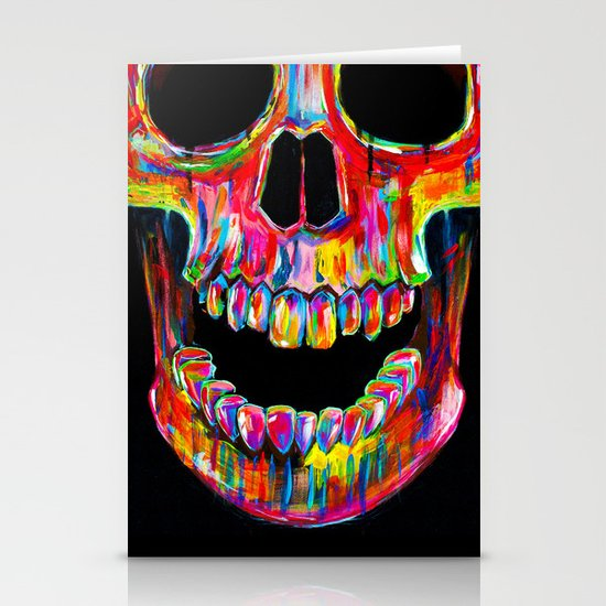 Chromatic Skull Stationery Cards