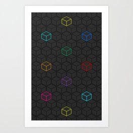 Cubes No. 1 Art Print