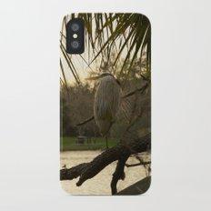 Great Blue Heron Portrait Slim Case iPhone X