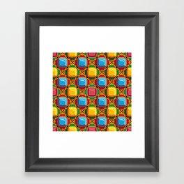 Pattern with diamonds Framed Art Print