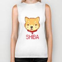shiba Biker Tanks featuring Shiba  by SCAD Illustration Club