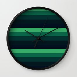 green stripes Wall Clock