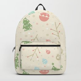 Simple christmas vector pattern Backpack