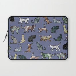 Cats shaped Marble - Violet Blue Laptop Sleeve
