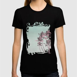 Tropical Palm Trees In Surreal Pink T-shirt