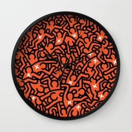 Keith Haring Variation #36 Wall Clock