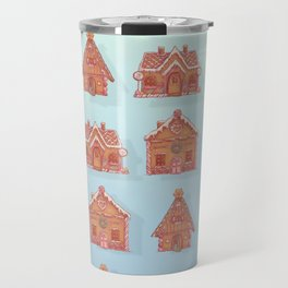 Gingerbread house pattern (V2) Travel Mug