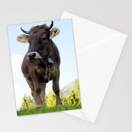 Cow on the pasture Stationery Cards