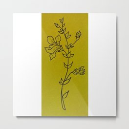 Lily Floral Illustration Metal Print