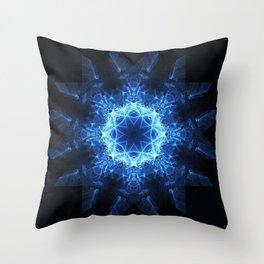Snowflake Mandala Throw Pillow