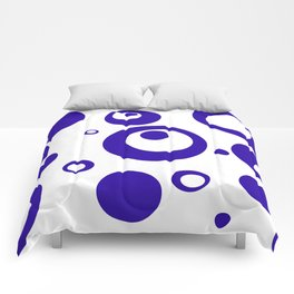 Circles Dots Bubbles :: Blueberry Inverse Comforters