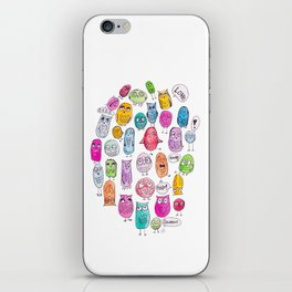 The Owl Family Tree iPhone Skin