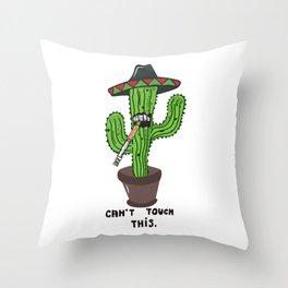 Dope Cactus Throw Pillow