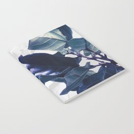 Blue and White Tropical leaves Notebook
