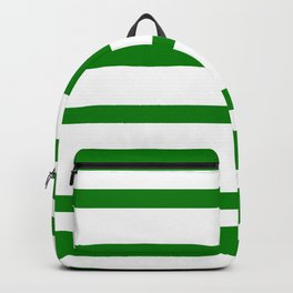 Mixed Horizontal Stripes - White and Green Backpack