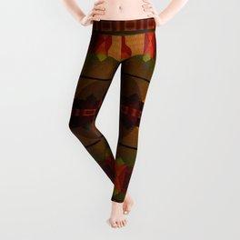 """Full Colors Tribal Pattern"" Leggings"