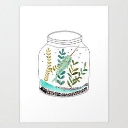 Narwhal in a jar Art Print