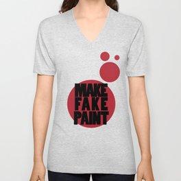 Fake Paint Unisex V-Neck