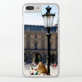 Sparrow at the Louvre Clear iPhone Case