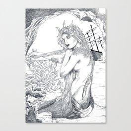 Le petite sirène  Canvas Print