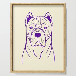 Cane Corso (Beige and Purple) Serving Tray